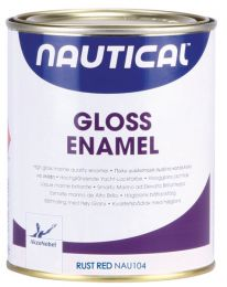 Nautical gloss enamel, kirkas pintamaali RUST RED 750ml